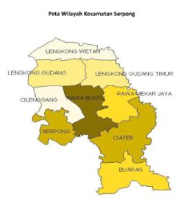 Peta Serpong