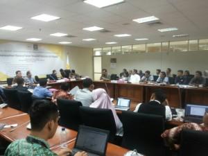 Perwakilan Genpro Tangsel sedang ikut rapat penyusunan RUU kewirausahaan di DPR RI