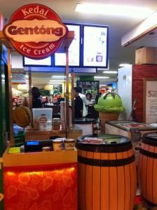 Salah satu penampakan kedai es krim Gentong
