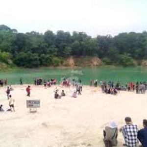 Peristiwa Unik Muncul di Danau Biru Cisoka Tangerang