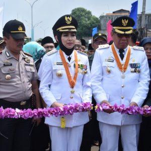 Usai Dilantik, Walikota dan Wakil Walikota Resmikan Jembatan Ciater