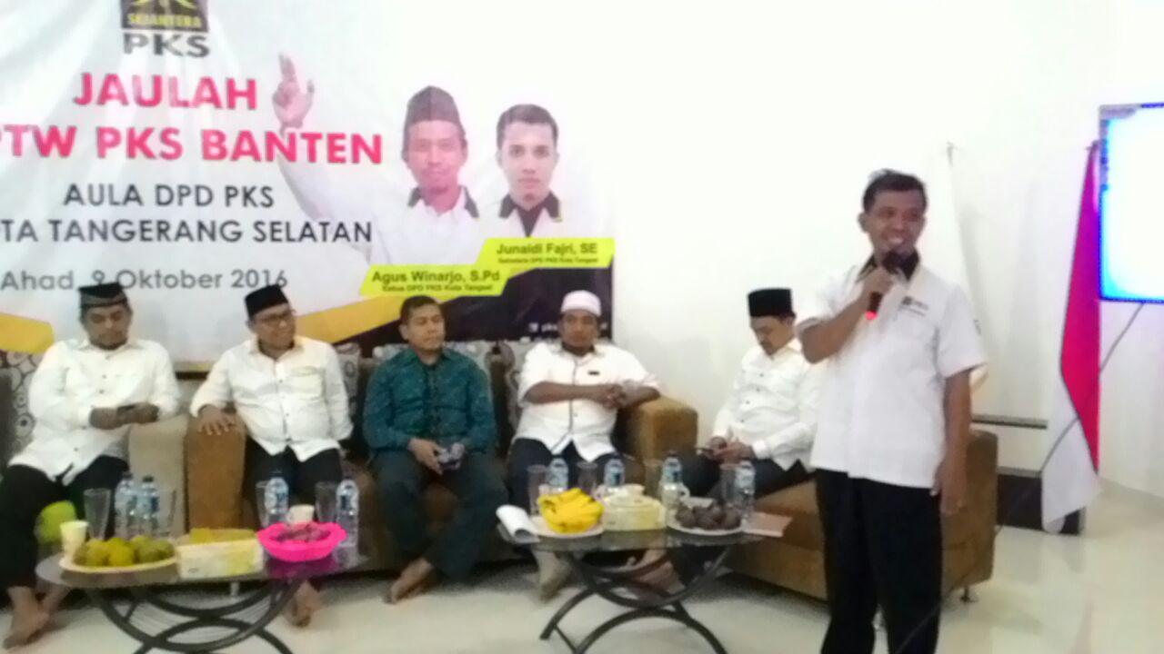 Agus Winarjo Ketua DPD PKS Tangsel Dalam Roadshow DPW PKS Banten. Foto: Humas PKS Tangsel