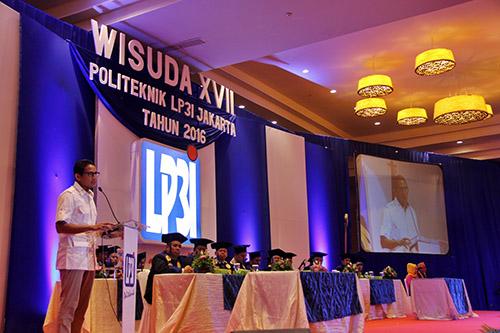 Wisuda XVII Politeknik LP3I, Jakarta. Foto. Dok LP3I