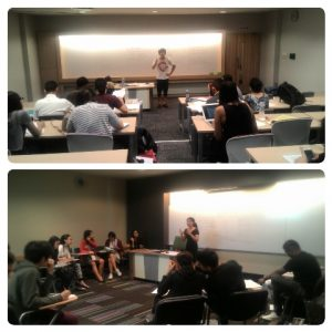 Suasana debat, babak penyisihan di dalam kelas-kelas