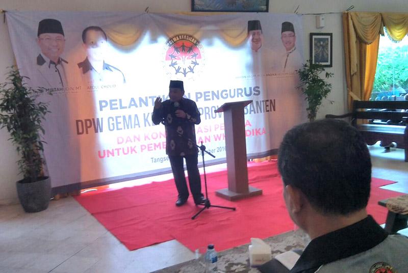 Gema Keadilan Banten siap dukung WH - Andika. Foto: istimewa