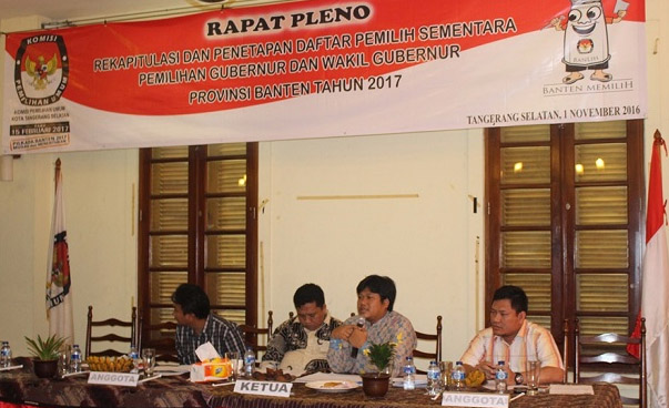 Rapat Pleno KPUD Tangsel (1/11/2016) Foto. istimewa