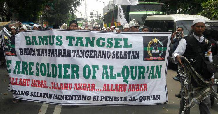 ORMAS dari Tangsel Rame-rame Ikut Aksi Damai Penuntasan Kasus Penistaan Agama