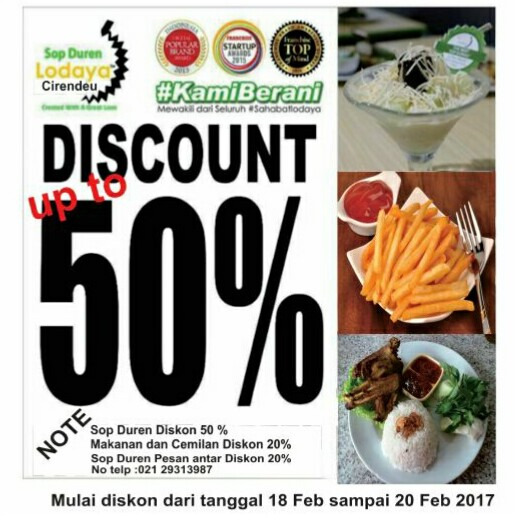 Ulang Tahun ke-1, Sop Duren Lodaya Cirendeu Gelar Diskon 50%