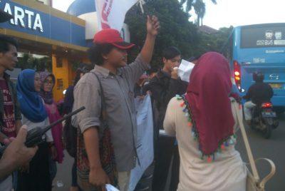 Mahasiswa UIN Syarif Hidayatullah Unjuk Rasa Menolak Diterapkannya PTN-BH