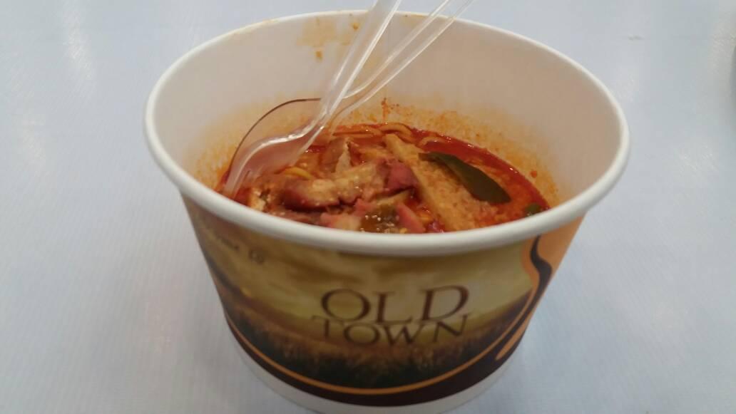 Curry Mie di Old Town White Coffe, Makanan Melayu Citarasa Lokal