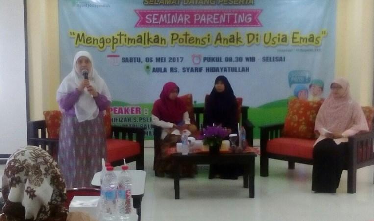 R.S. Syarif Hidayatullah Gelar Seminar Parenting Bertema: Mengoptimalkan Potensi Anak di Usia Emas