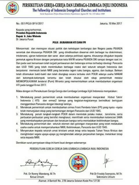 Geprindo: Pengurus PGI Jangan Atas-namakan Gereja untuk Bela Ahok