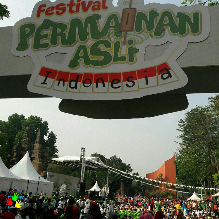 Kampoeng Hompimpa Ramaikan Hari Anak Nasional di Festival Permainan Asli Indonesia