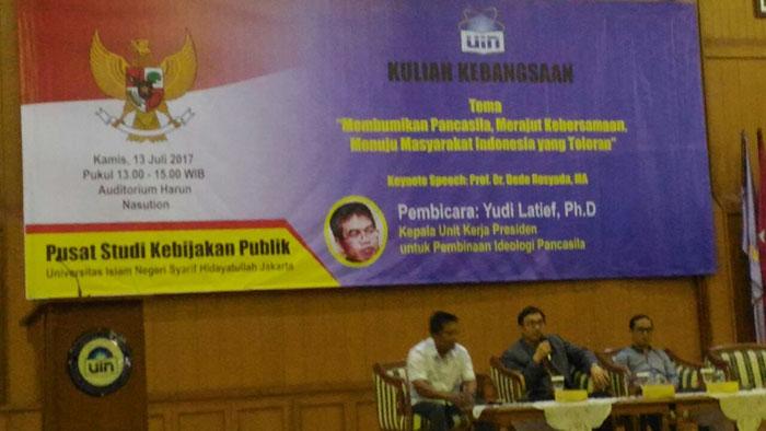 Adakan Kuliah Kebangsaan, Civitas UIN Jakarta Ingin Membumikan Pancasila