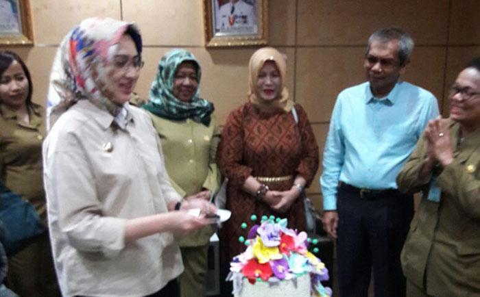 Dinas Koperasi & UKM bersama DEKOPINDA Tangsel Gelar Tasyakuran Sederhana Ultah Walikota