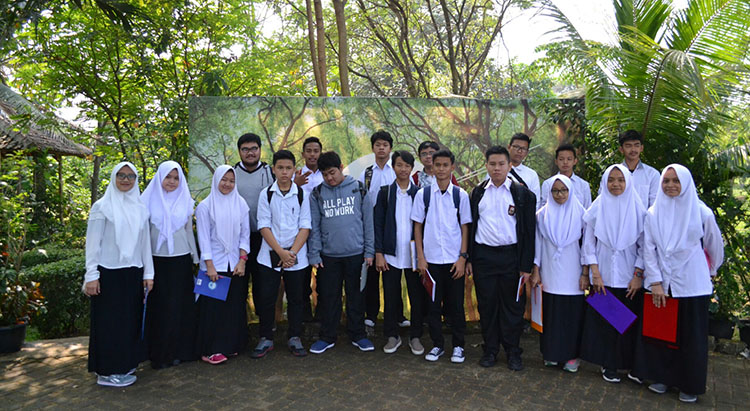 SMAIT Auliya Kunjungi Kampoeng Djamoe Organik