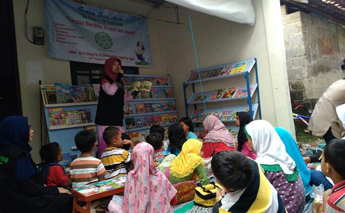 Tingkatkan Minat Baca, Komunitas GIP Dirikan Taman Baca Anak di Pondok Ranji