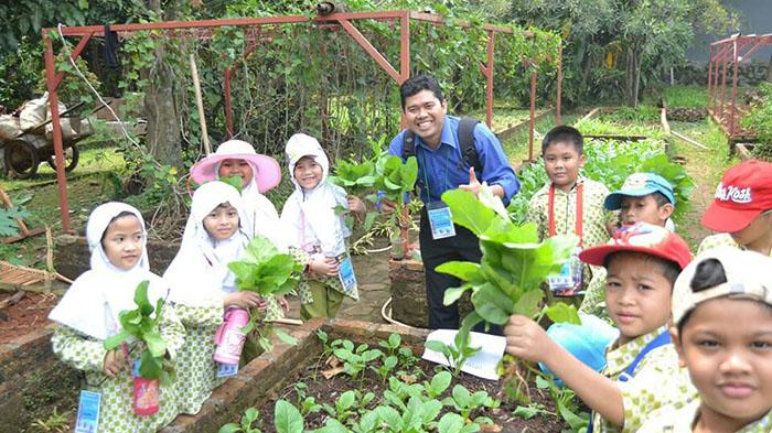 Asiknya Belajar Menanam dan Memanen Sayuran