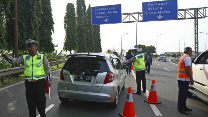 Penolakan Ganjil Genap Tol Tangerang Berkurang di Hari Kedua