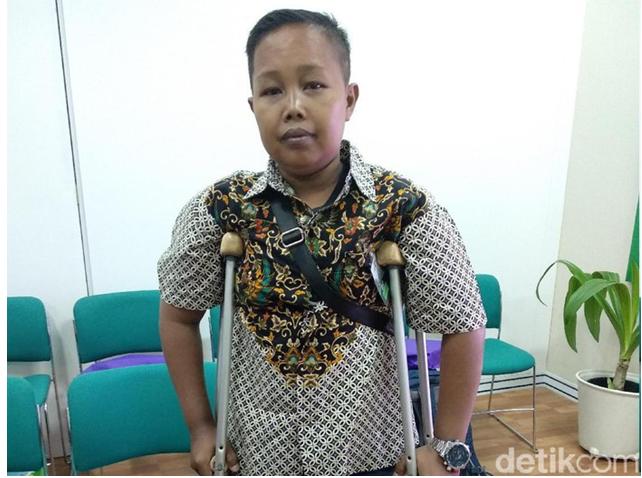Menderita Penyakit Talasemia Dari Lahir, Kini Oji Hidup dengan Satu Kaki