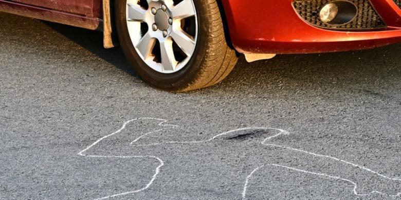 Pengendara Motor Terpental dan Tewas Tertabrak Mobil, Setelah Tabrak Pembatas Jalan