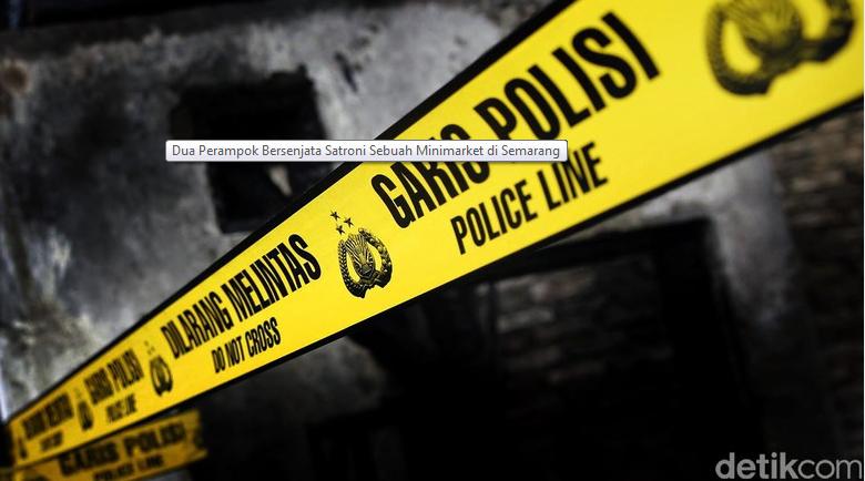 Dua Perampok Bersenjata Menyatroni Sebuah Minimarket di Semarang
