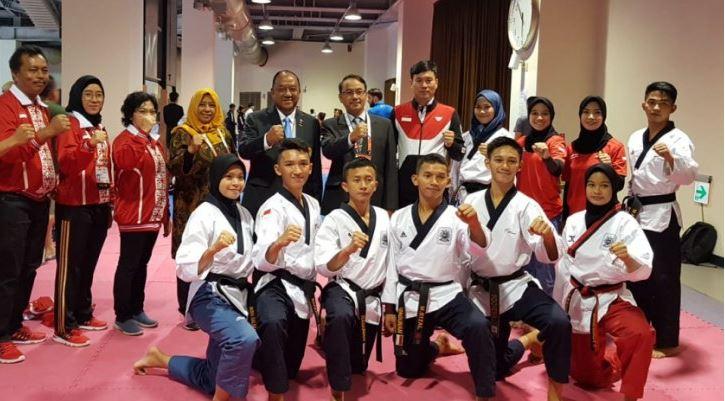 Empat Atlet Junior Taekwondo Indonesia Menimba Ilmu Di Kejuaraan Dunia Di Taipei