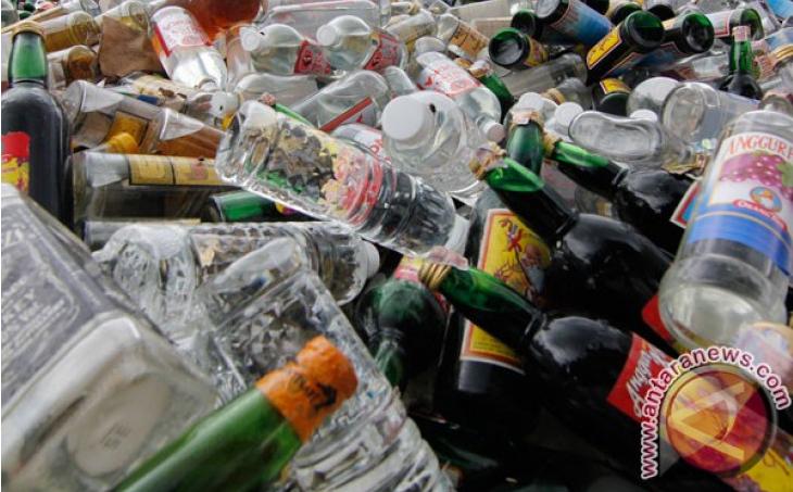 Pelaku Penyeludupan Minuman Keras Di Tangkap Polisi Ternate