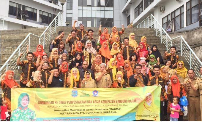 TBM Se-Tangsel Studi Banding ke Bandung