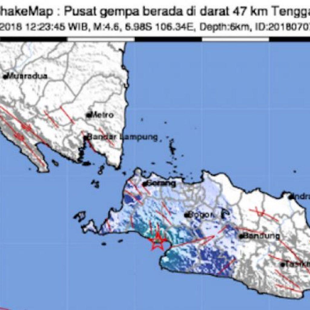 Gempa Lebak Berasa Terasa Sampai Kebupaten Sukabumi