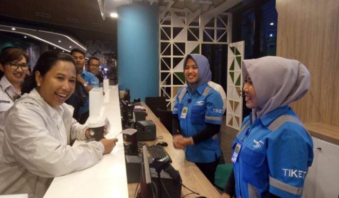 Subuh Tadi, Menteri BUMN Meninjau Terminal Eksekutif Pelabuhan Merak Banten