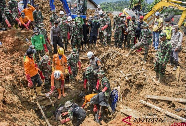Hari Keenam Pencarian Ditemukan Sembilan Jenazah Korban Longsor Sukabumi