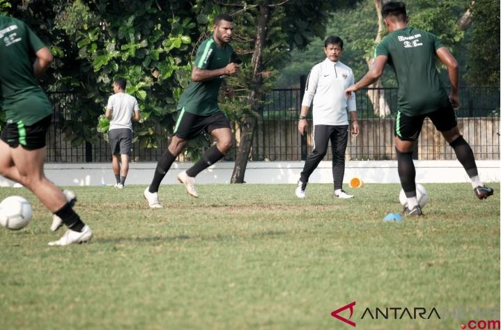 Latihan Perdana Timnas Indonesia U-22