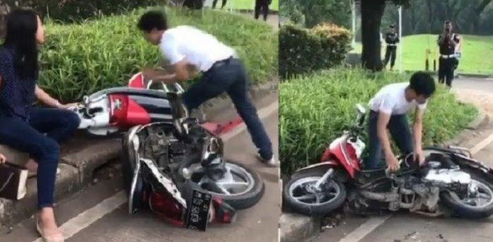 Pemuda Yang Merusak Motor Sendiri Di Serpong Kini Terancam Hukuman 4 Tahun Penjara
