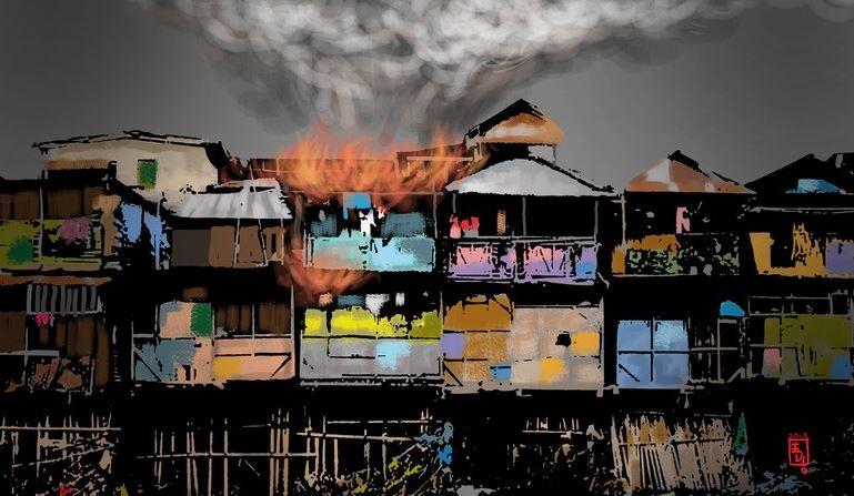 Lapak Barang Bekas Dekat Tol Arah Soetta Terbakar, 12 Mobil Pemadam Kebakaran Dikerahkan