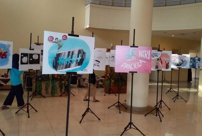 Memeriahkan HUT RI Ke-74, PKS Gelar Pameran Karya Kartunis