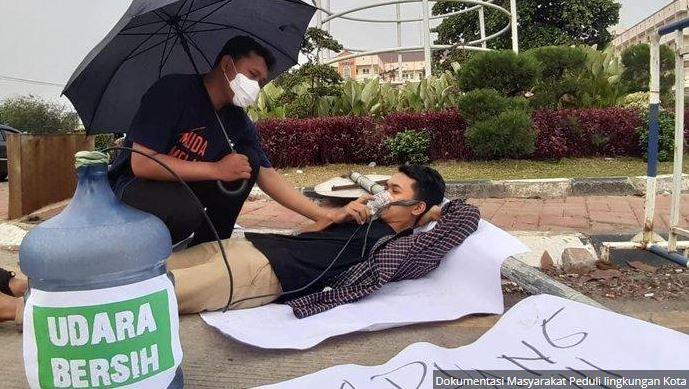 Masyarakat Tangerang Selatan Protes Udara Buruk, Masyarakat Peduli Lingkungan: Taman Kota Cuma Ada Di Daerah Pengembang