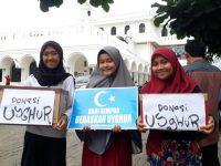 Warga Rempoa Adakan Aksi Solidaritas Untuk Muslim Uighur
