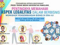 Dosen Prodi Teknik Mesin Gelar PKM Pentingnya Aspek Legalitas Dalam Bisnis