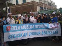 Bela Muslim Uighur, Umat Islam Demo di Kedubes China