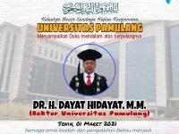 Dr. H. Dayat Hidayat, M.M., Rektor Unpam dengan Segudang Prestasi dan Keteladanan