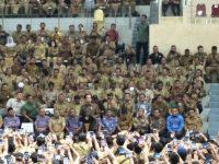 Presiden Jokowi Temui Perangkat Desa Di Istora