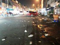 Di Pasar Lama Tangerang Sampah Sisa Makanan Berserakan