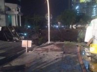 Lima Pekerja Diperiksa Polisi Terkait Jalan Ambles Di Surabaya