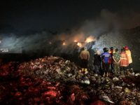 Tempat Pemrosesan Akhir (TPA) Supit Urang Kota Malang Habis Terbakar