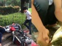 Viral Pria Amuk Motor Karena Tidak Terima Ditilang, Kini Beredar Video Pelaku Juga Membakar STNK-Nya