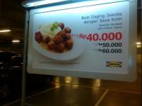 Bola Daging Swedia dengan Saus Krim IKEA Alam Sutera, Serpong
