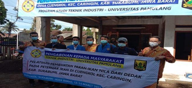 Dukung Peningkatan Hasil Ternak Nila di Jawa Barat, Dosen Unpam Lakukan Pelatihan Pembuatan Campuran Pakan Ikan Nila Dari Dedak Padi Di Desa Cijengkol Sukabumi