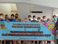 Mahasiswa Unpam Lakukan Penyuluhan Strategi Pemasaran Home Industri Tempe Dalam Meningkatkan Kesejahteraan Ekonomi Dimasa Pandemi di Pabrik Tempe Jakarta Selatan