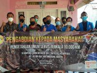 Pengabdian Kepada Masyarakat Mahasiswa Unpam Sosialisasikan Pengetahuan Umum Service Berkala 10.000 KM